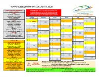 Calendrier de collecte 2020
