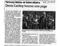 Est Républicain du 27 avril 2011 – Départ en retraite de Denis Caritey, facteur