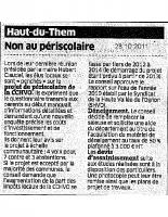 Octobre 2011 (Est Républicain du 28 octobre 2011)